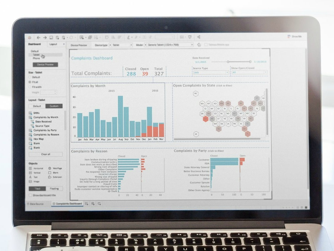 tableau bi software dashboard