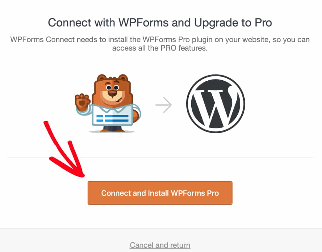 Confirm installation of WPForms Pro