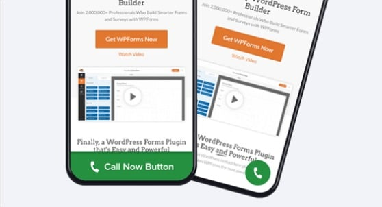 call now button desktop users or mobile devices