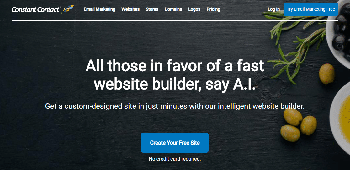 constant contact website builder