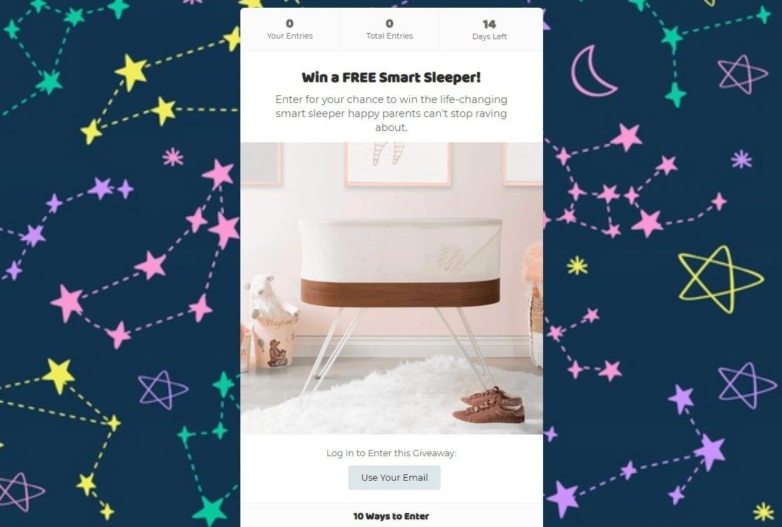 display giveaway on site