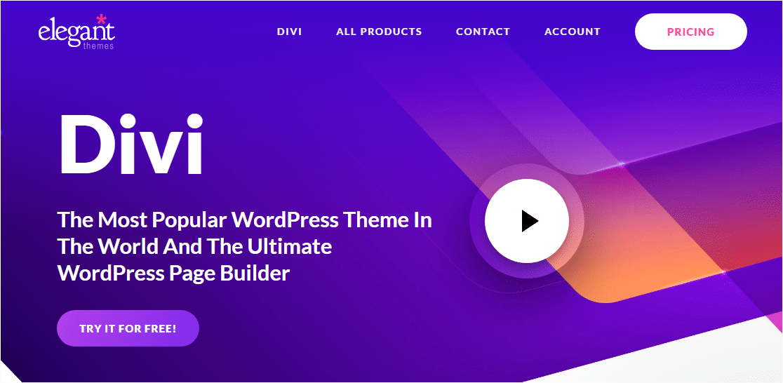divi by elegant themes offers one page resume wordpress theme