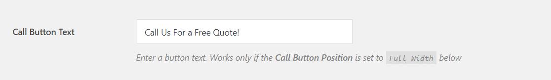 edit call button text