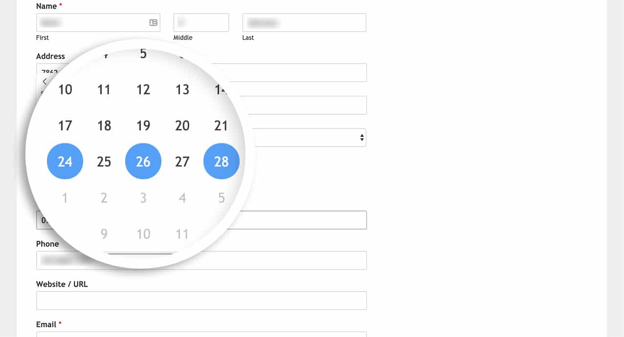 The user can now select multiple dates from the date picker
