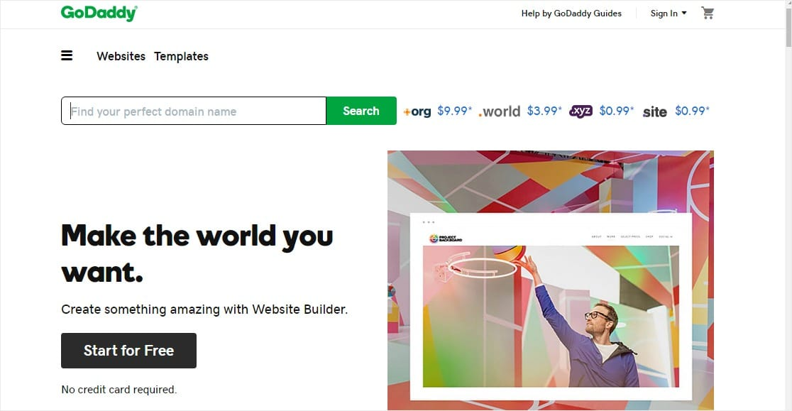 godaddy website builder easy to use