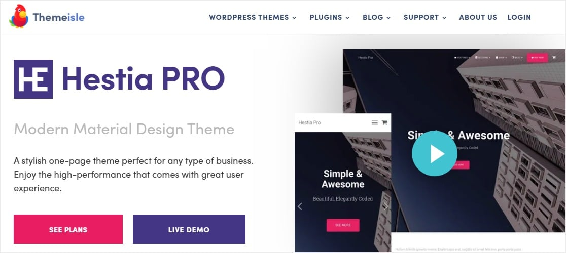 hestia theme by themeisle