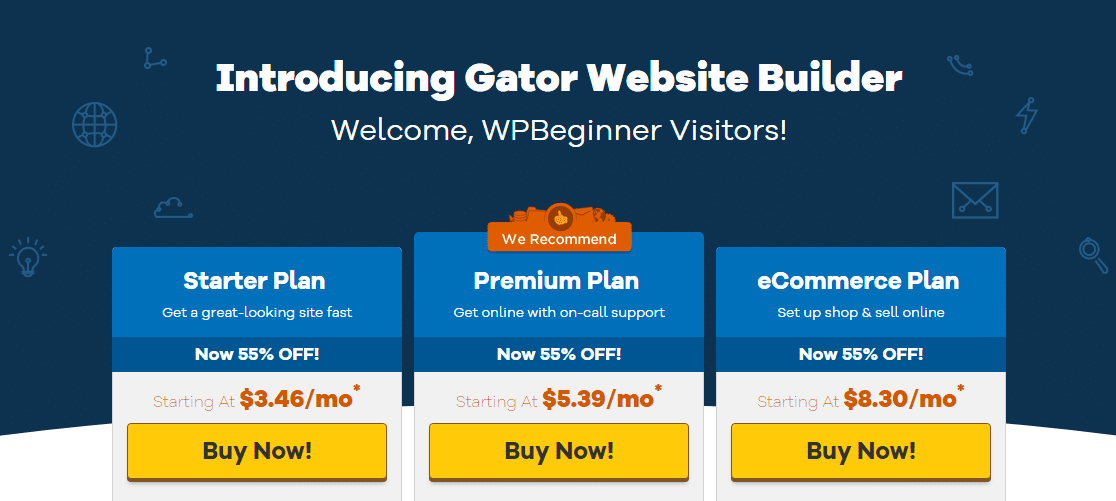 host gator website builder