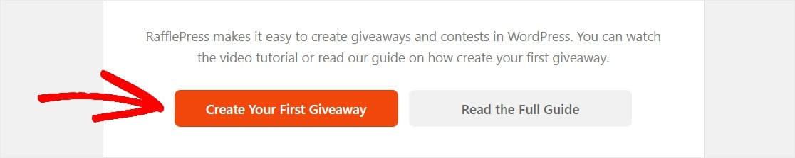 how to create your first giveaway