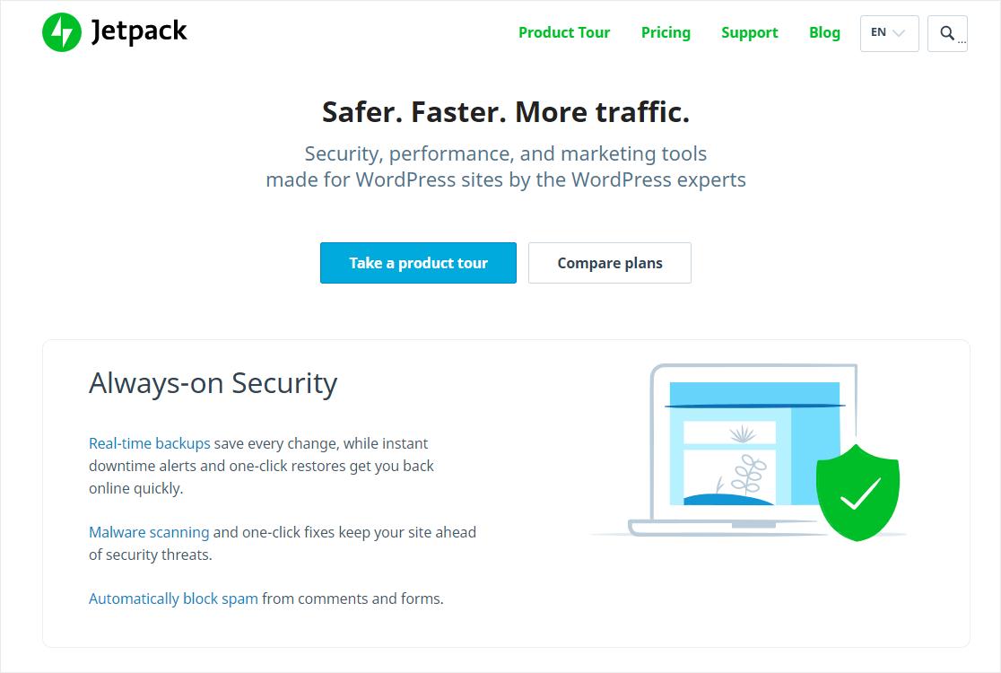 jetpack security plugin