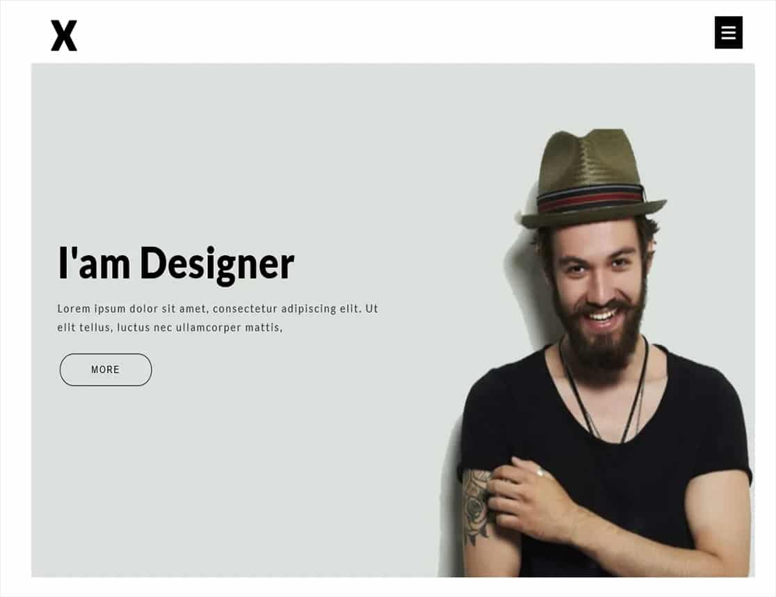 one page resume wordpress theme