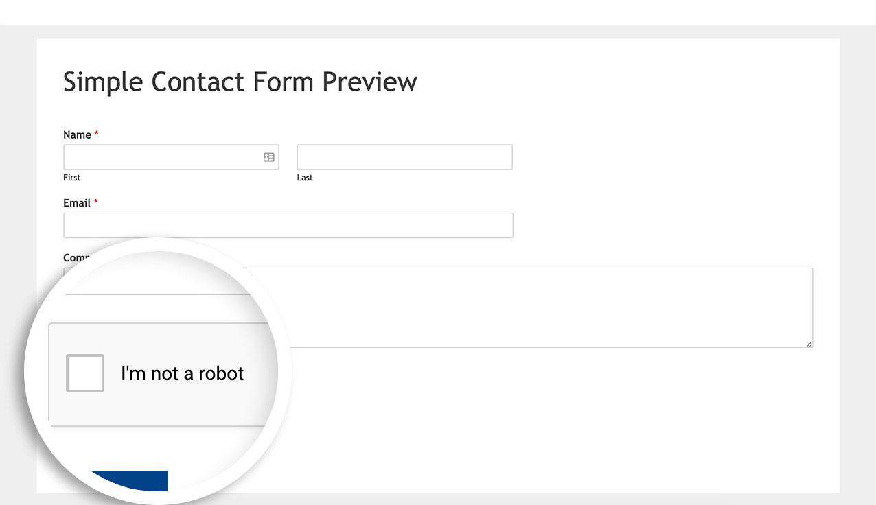 reCAPTCHA default captcha theme is set to light