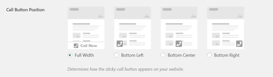 select button position