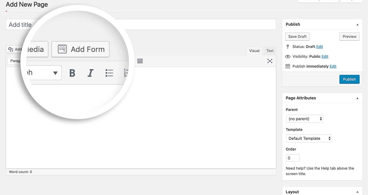 "How to remove the ""add form"" button from the TinyMCE editor"
