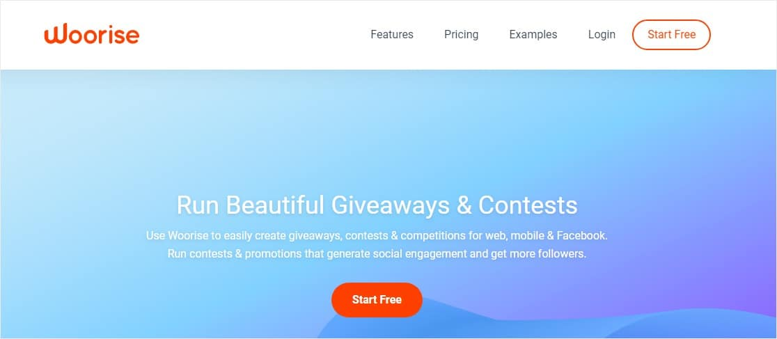 woorise giveaways and contests social promotions