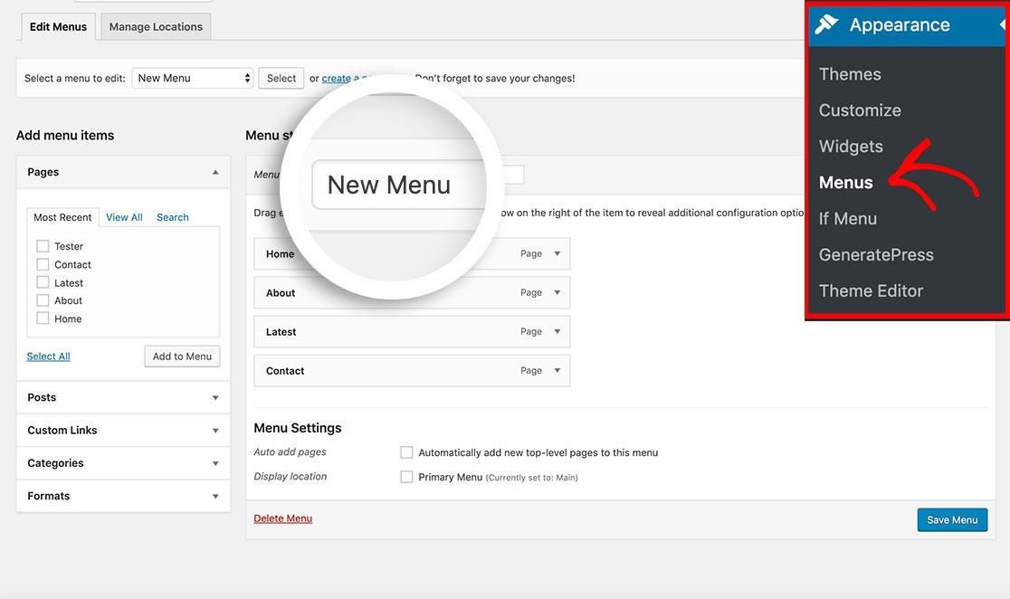 Create a custom logout link in your WordPress menu