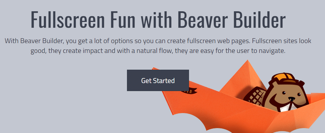 beaver builder landing pages