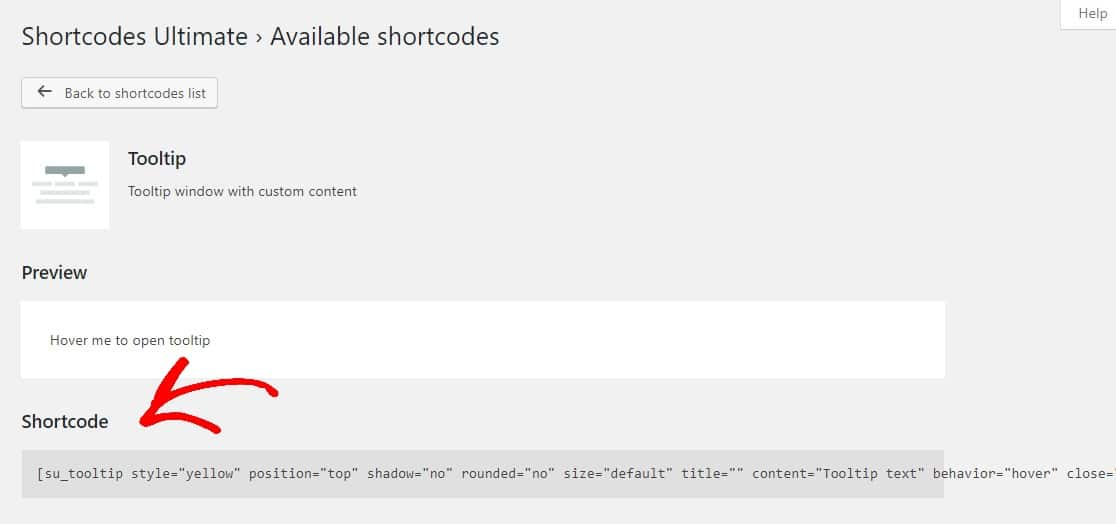 copy tooltip shortcode
