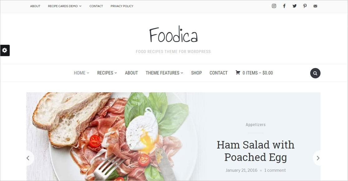 Foodica one of the best responsive wordpress themes around