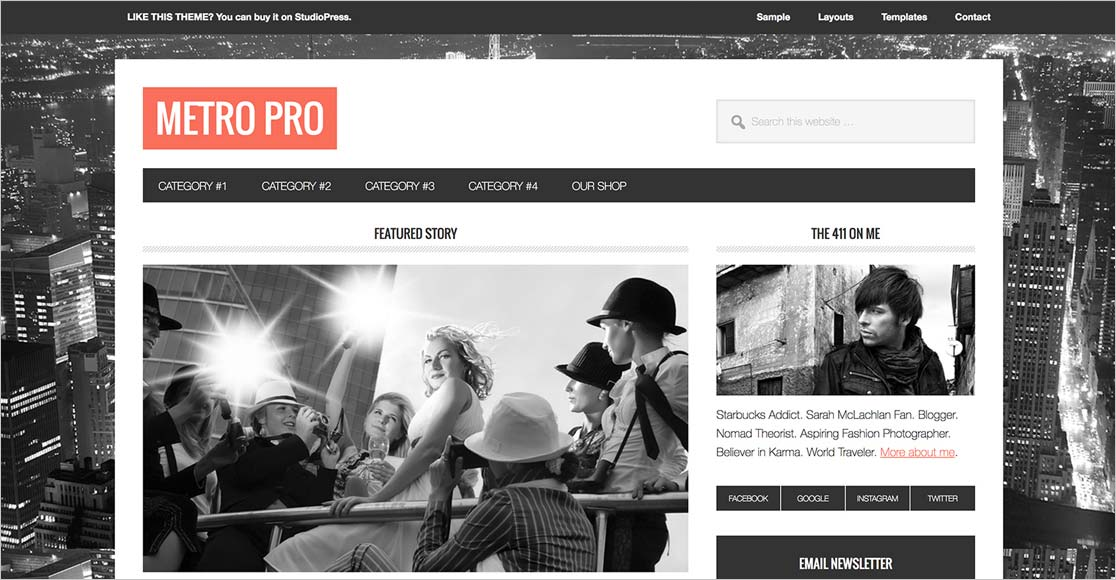 Metro Pro best responsive wordpress themes