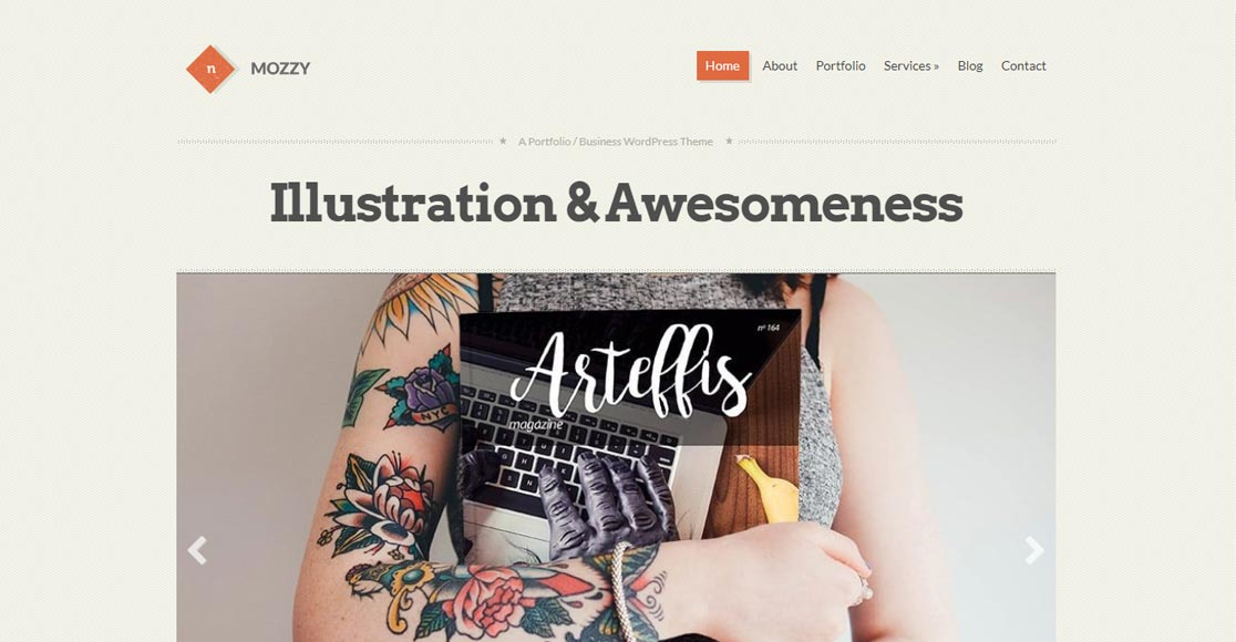 Mozzy best responsive wordpress themes