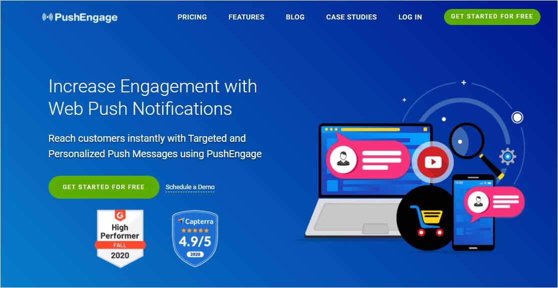 pushengage best plugin for browser notifications on wordpress
