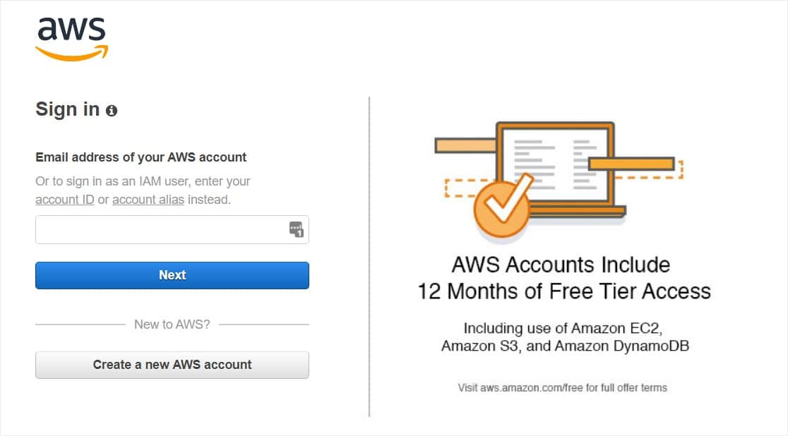 smtp interface to send email through amazon ses