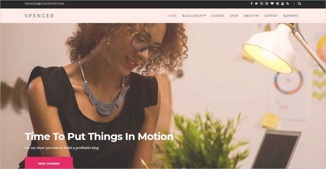 Spencer best responsive wordpress themes