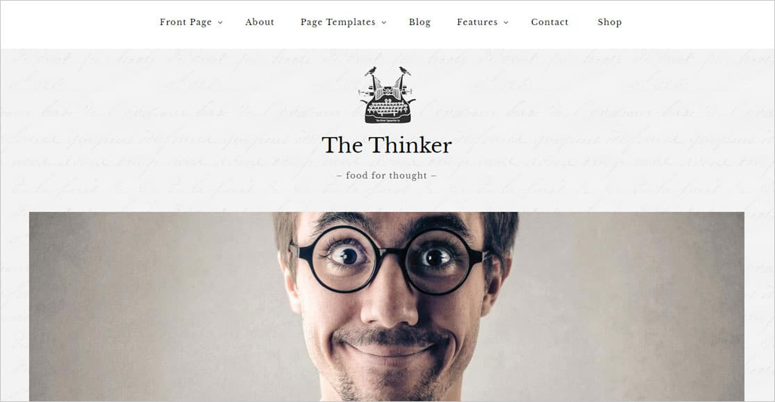 The Thinker best responsive wordpress themes