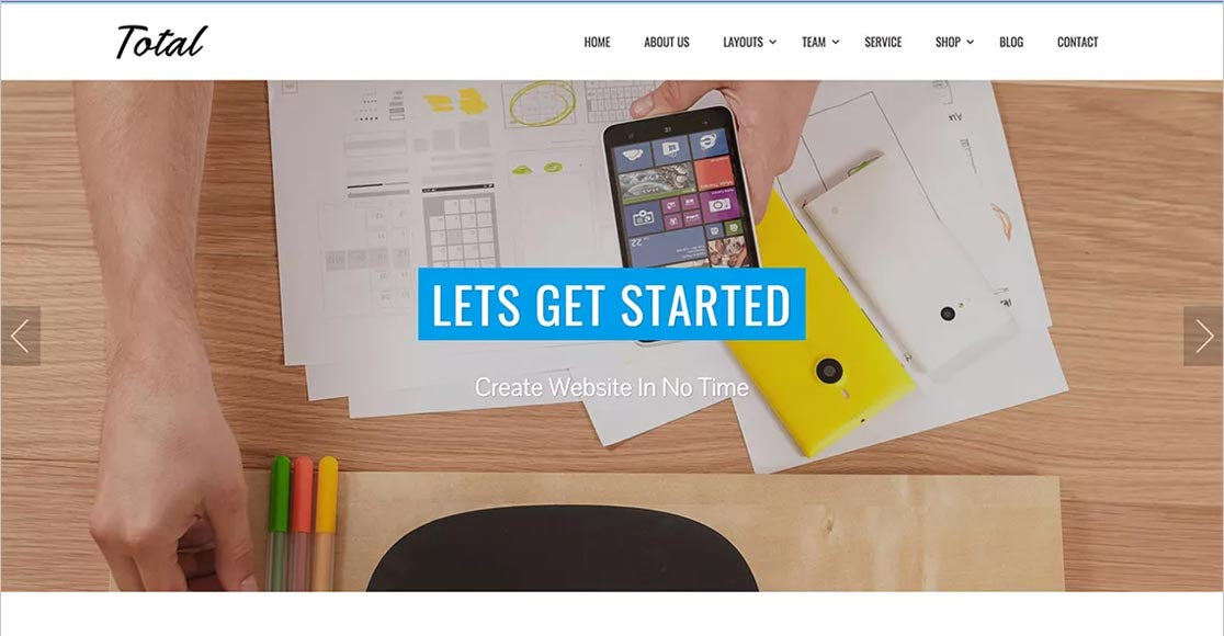 Total one of the best responsive wordpress themes around