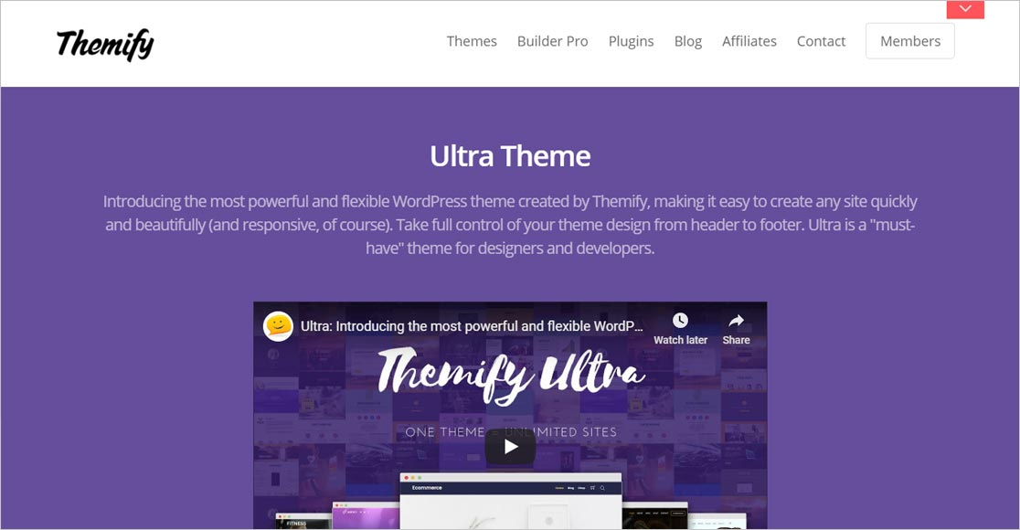 Ultra Theme best responsive wordpress themes