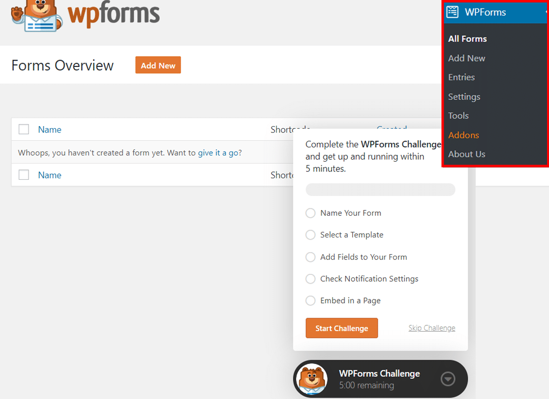 wpforms-challenge