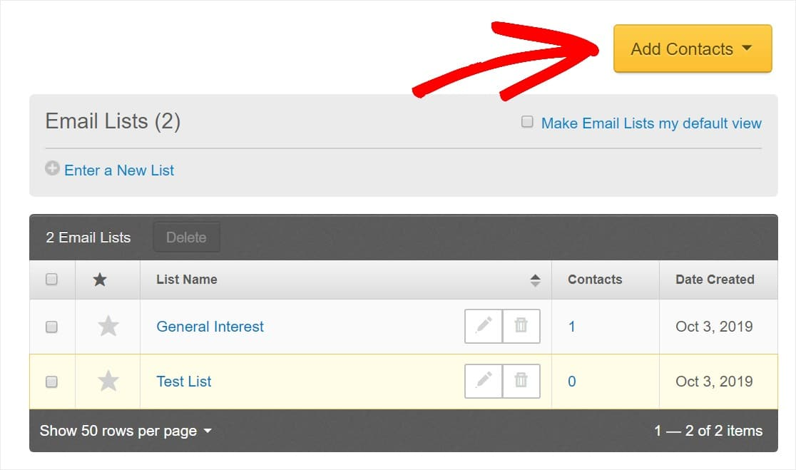 add contact to email list on constant contact