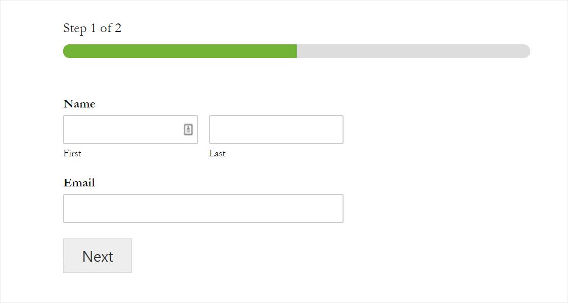 breadcrumbs progress bar multistep forms