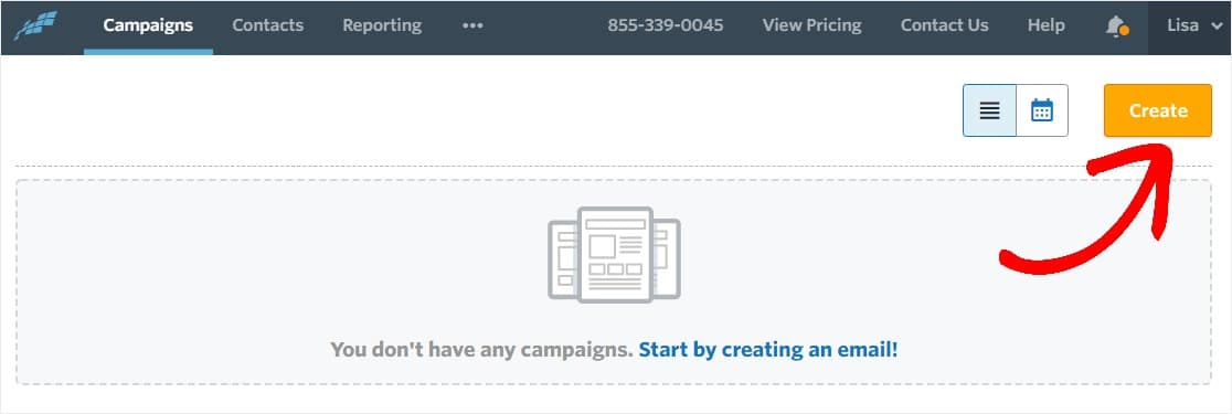 create new email campaign
