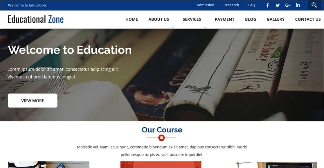 Educational Zone best education wordpress themes