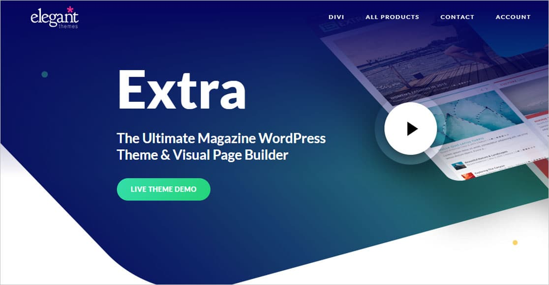 Extra Theme best wordpress themes for small business