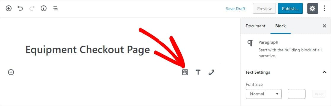 widget on page