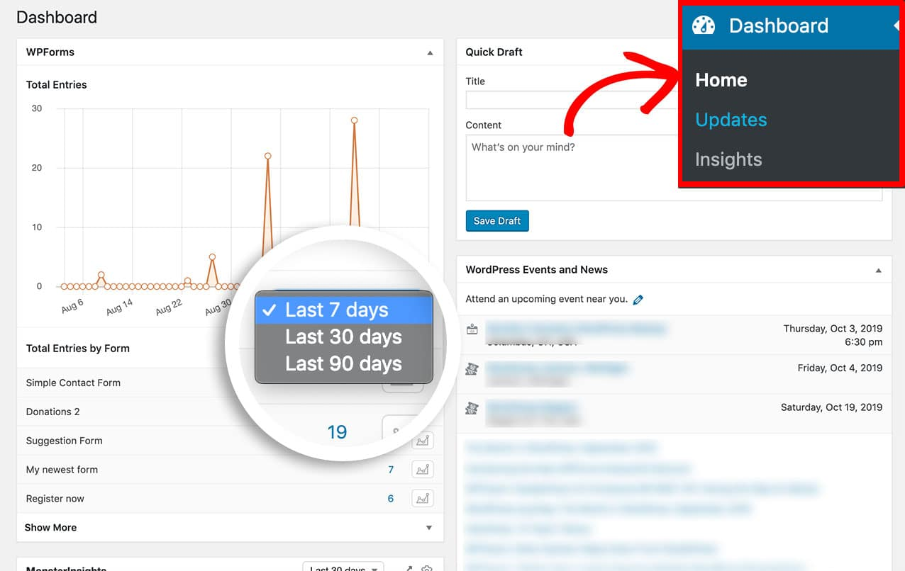 With this code you'll add an additional time span of 90 days to the dashboard widget.