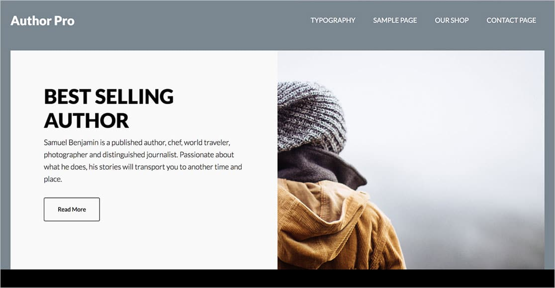 best wordpress themes for authors Author Pro