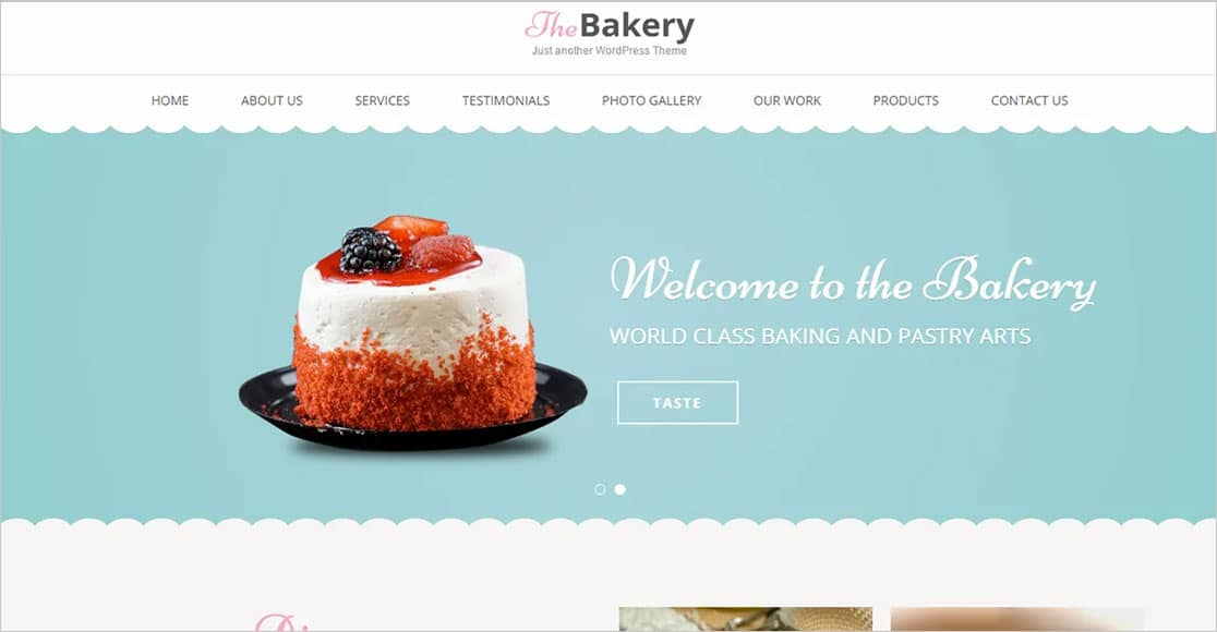 Bakes and Cakes best wordpress restaurant themes
