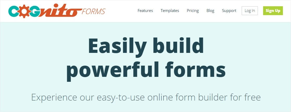cognitoforms google forms alternatives