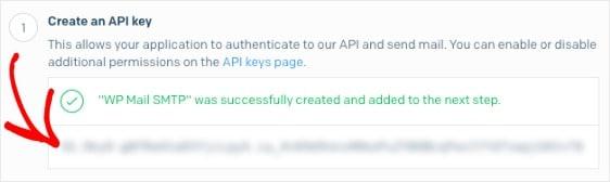 copy sendgrid api key