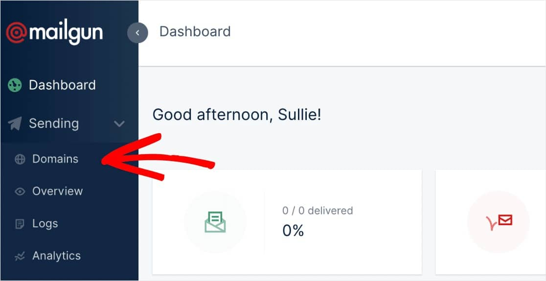 add new domain mailgun settings