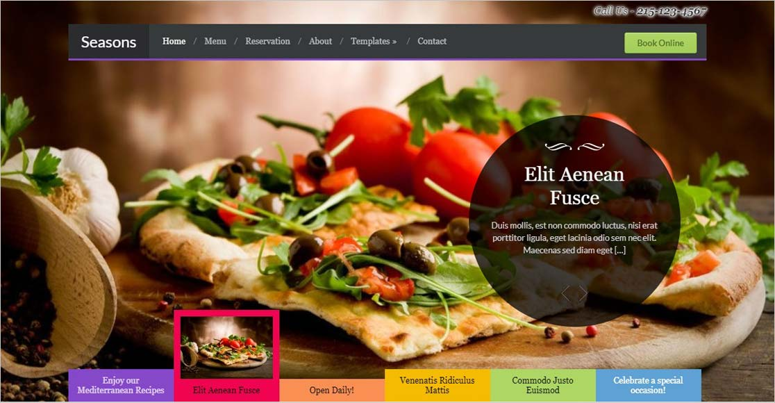 Seasons best wordpress restaurant themes