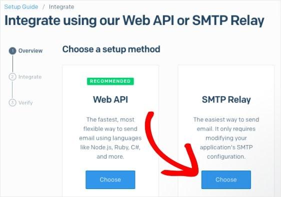 select smtp relay sendgrid wordpress