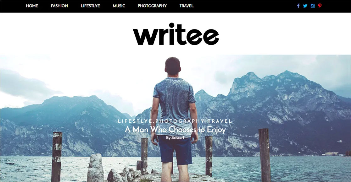 Writee best wordpress themes for authors