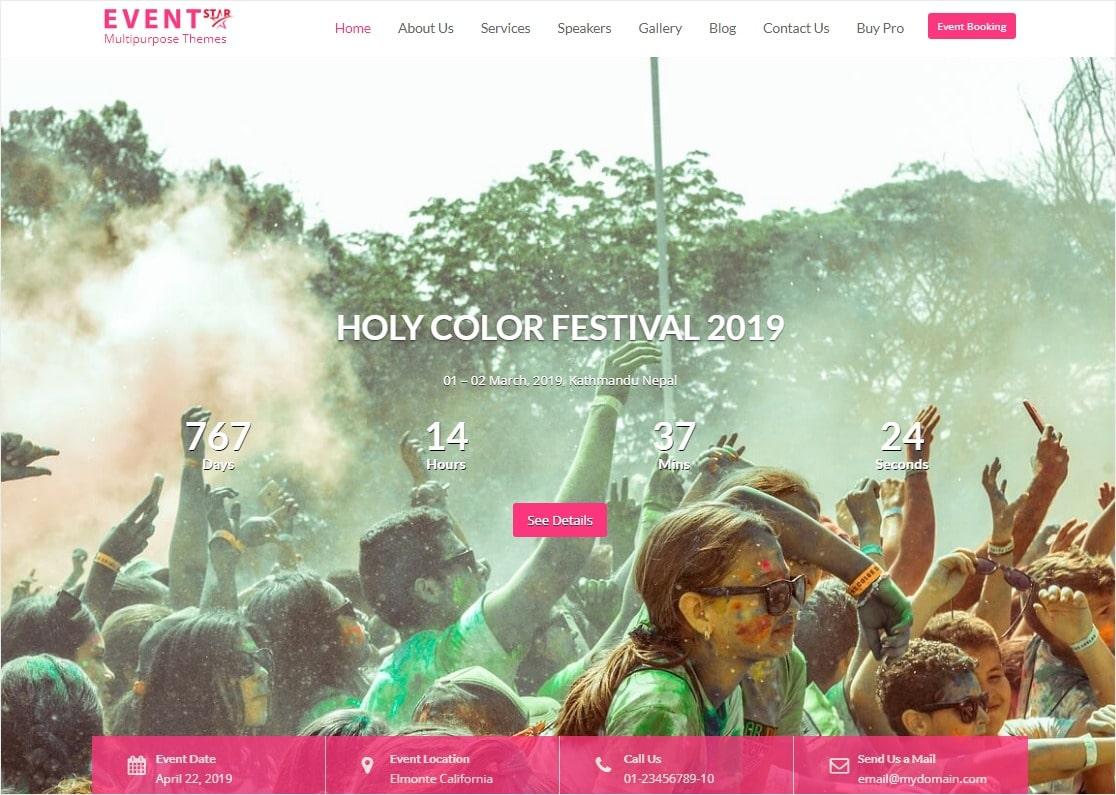 event schedule multipurpose theme eventstar
