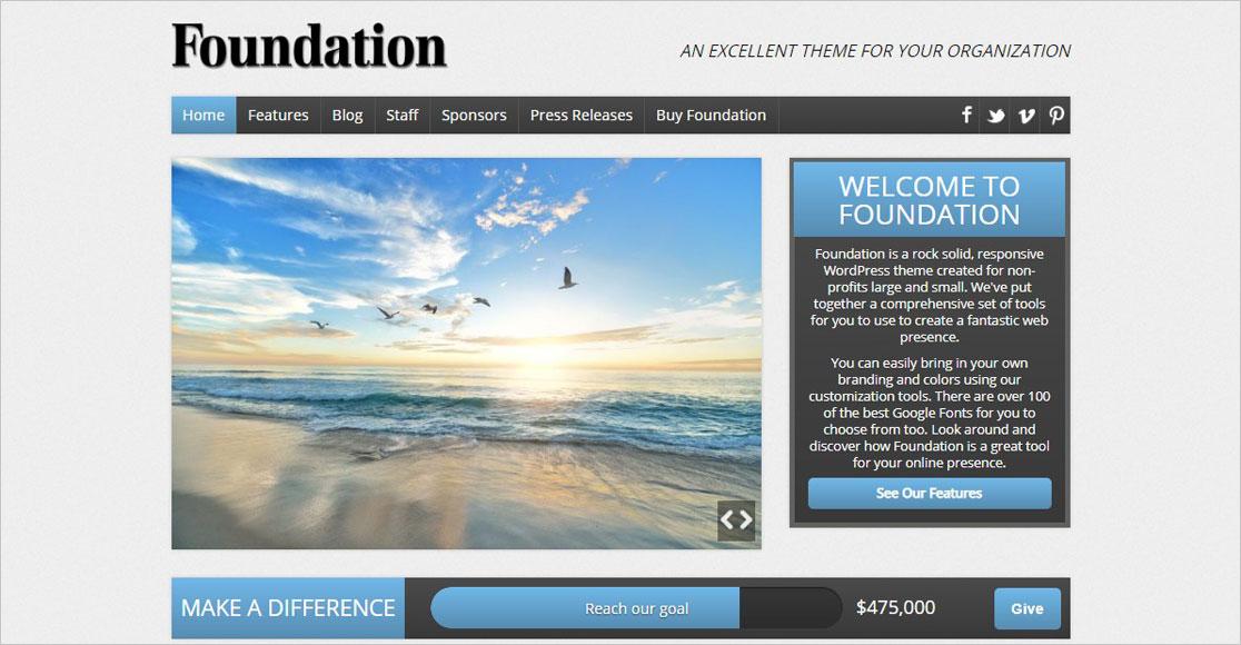 Foundation WordPress Non-Profit Theme