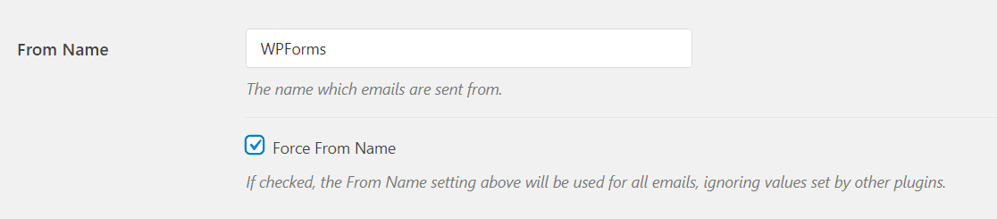 from name settings