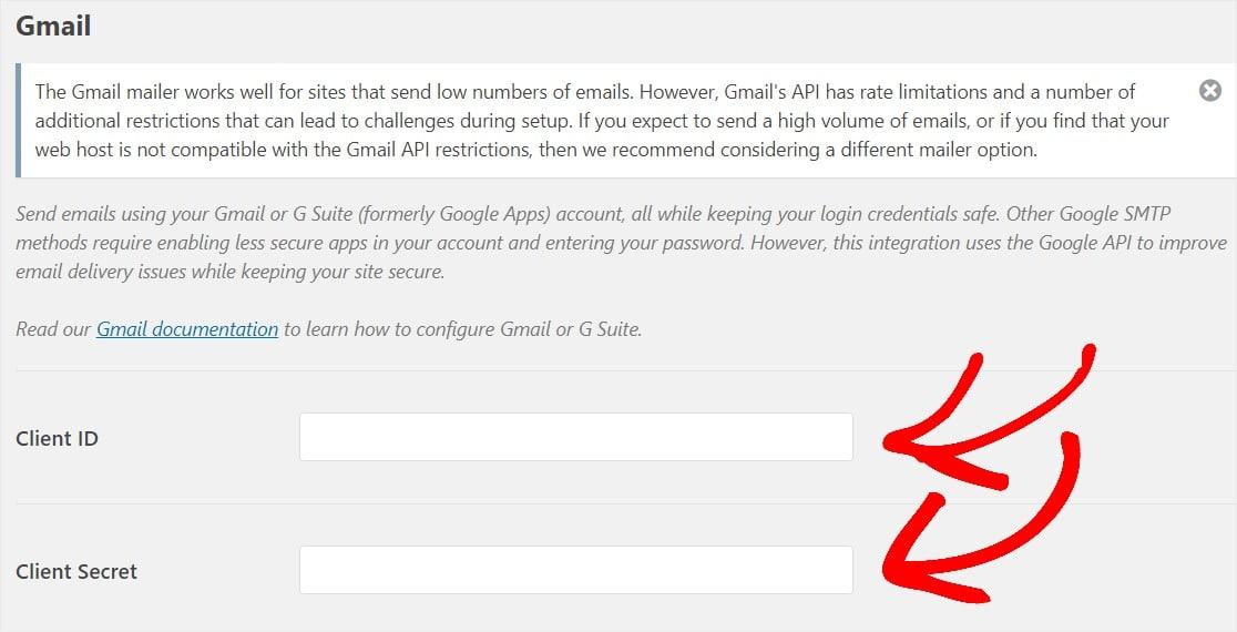 gmail mailer settings